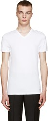 Versace White V Neck T Shirt