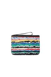 Pierre Hardy Alpha Pouch In Black Abstract