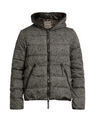 Duvetica Dionisio Quilted Down Jacquard Coat Grey