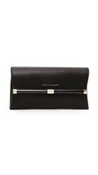 Diane Von Furstenberg 440 Envelope Clutch With Lizard Embossing Black