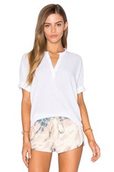 Stateside Bubble Gauze Short Sleeve Blouse White