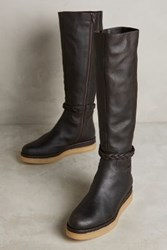 Anthropologie Miss Albright Braided Knee Boots Honey