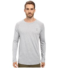 G Star Classic Long Sleeve Raglan Tee In Thero Jersey Grey Heather Men's T Shirt Gray