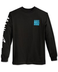 Maui And Sons Men's Fish Out Of Water Logo T Shirt Black