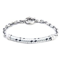 Anchor And Crew Derry Rope Silver Bracelet
