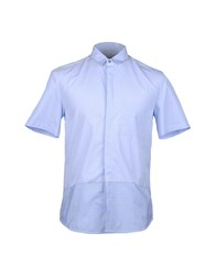 Richard Nicoll Shirts Short Sleeve Shirts Men Sky Blue