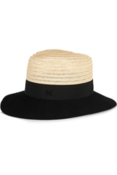 Maison Michel Henrietta Rabbit Felt And Straw Trilby