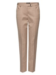 Marc Cain Jacquard Tapered Trousers Linen
