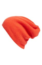 Halogenr Women's Halogen Slouchy Cashmere Beanie Red Red Fiery