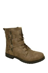 Twisted Trooper Lace Up Boot Brown