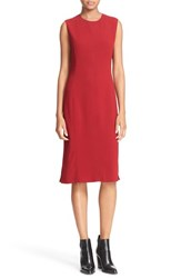 Joseph Women's 'Sadie' Stretch Crepe Shift Dress Oxblood