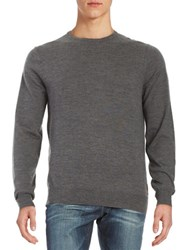 Ben Sherman Merino Wool Crewneck Sweater Black