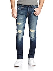 7 For All Mankind Paxtyn Tapered Skinny Jeans Destroyed