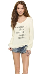 Wildfox Couture Weekend Trip Pullover Vintage Lace