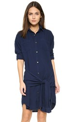 Current Elliott The Oliver Shirtdress Navy