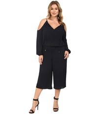 Michael Michael Kors Plus Size Cold Shoulder Jumpsuit New Navy Women's Jumpsuit And Rompers One Piece