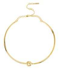 Kenneth Cole Circle Link Knot Collar Necklace Gold