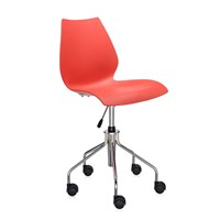 Kartell Maui Swivel Chair Purple Red