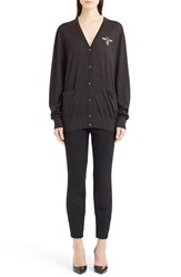 Women's Dolce And Gabbana Bee Embellished Cashmere Sweater