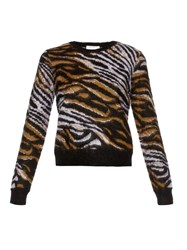 Equipment Shirley Tiger Print Long Sleeved Sweater