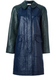 Tory Burch Single Breasted Coat Blue