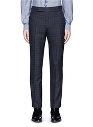 Paul Smith Gingham Check Wool Pants Multi Colour