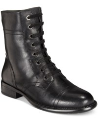 Easy Spirit Janis Lace Up Booties Women's Shoes Black Leather