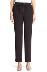 Women's St. John Collection Satin Back Crepe Crop Pants