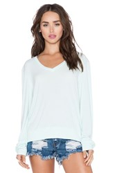 Wildfox Couture Essential Baggy Beach V Neck Tee Mint