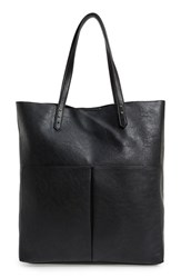 Sole Society 'Clifton' Faux Leather Tote Black