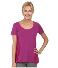 Lole Mukha Top Passiflora Women's Short Sleeve Pullover Purple