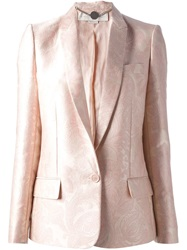 Stella Mccartney Floral Jacquard Blazer Pink And Purple