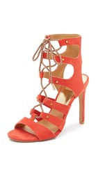 Dolce Vita Howie Lace Up Sandals Red Orange
