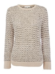 Gray And Willow Crew Neck Fisherman Rib Jumper Ivory