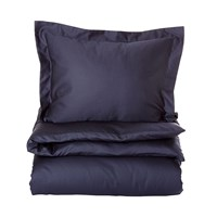 Gant Solid Sateen Duvet Cover Navy Double 200 X 200 Cm