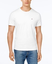 Tommy Hilfiger Big And Tall Men's Beach Crew Neck T Shirt Classic White