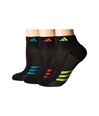 Adidas Climacool Superlite 3 Pair Low Cut Sock Black Graphite Eqt Green Semi Solar Slime Shock Red Women's Low Cut Socks Shoes