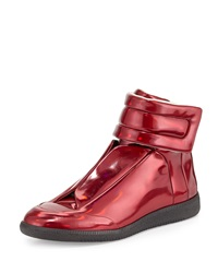 Maison Martin Margiela Maison Margiela Future Leather High Top Sneaker Metallic Red