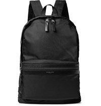 Michael Kors Kent Leather Trimmed Shell Backpack Black