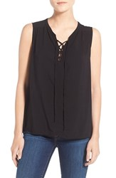 Women's Velvet By Graham And Spencer Lace Up Sleeveless Top