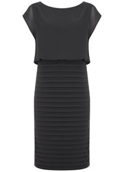 Mint Velvet Charcoal Chiffon Bandage Dress Grey