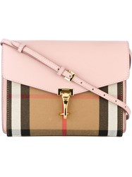 Burberry House Check Crossbody Bag Pink And Purple