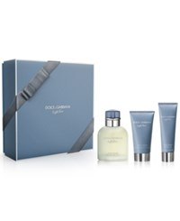Dolce And Gabbana 3 Pc. Light Blue Pour Homme Set No Color