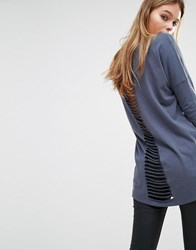 Only Ladder Back Tunic Top Omber Blue