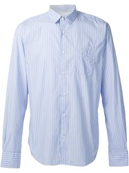 Officine Generale Striped Shirt Blue