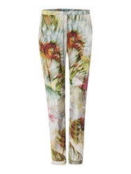 La Fee Maraboutee Flowing Palm Leaf Printed Trousers Multi Coloured