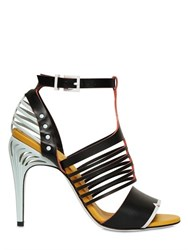 Fendi 105Mm Leather Cage Sandals