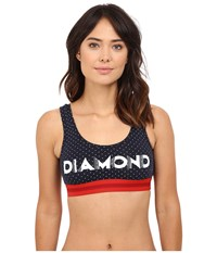 Diamond Supply Co. Deco Bralette Navy Women's Bra