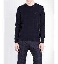 Armani Jeans Crewneck Knitted Jumper Navy