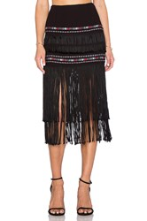 Twelfth St. By Cynthia Vincent Indian Midi Skirt Black